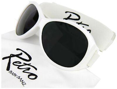 Baby Banz Neu Retro Sonnenbrille Weiß BNWT