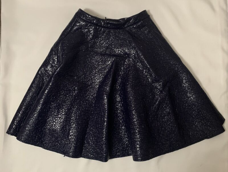 MSGM Womens Purple Faux Leather Skirt Size 40