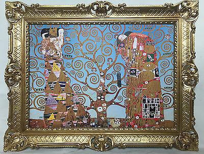 Cuadro con Marco Gustav Klimt El Kiss Árbol de la Vida Mural...