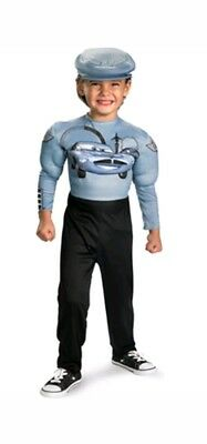 Disney Child Cars Finn McMissile Muscle Costume 3t-4t Toddler New