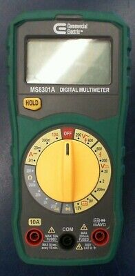 Commercial Electric Manual Ranging Digital Multi-meter Ms8301a Tester Tool Only