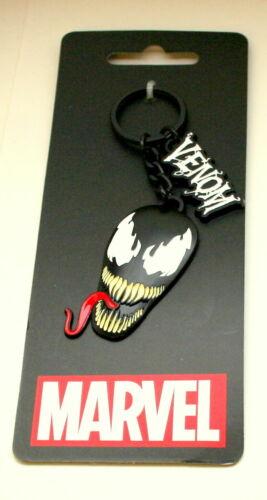 Marvel Comics Venom Face Metal Enamel Key Chain New NOS MOC