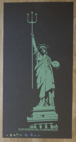 2005 Big Lebowski Fest - NYC Movie 1-color Test Print - Statue of Liberty