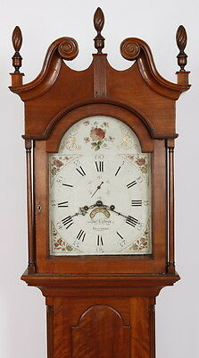 Philadelphia 1800 Chippendale Tall Case Grandfather Clock Thos Lindsay Frankford