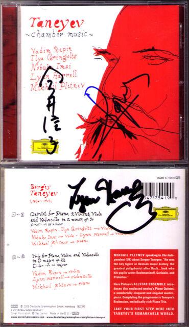 Vadim REPIN Nobuko IMAI HARRELL Signed TANEYEV Quintet Trio PLETNEV CD GRINGOLTS