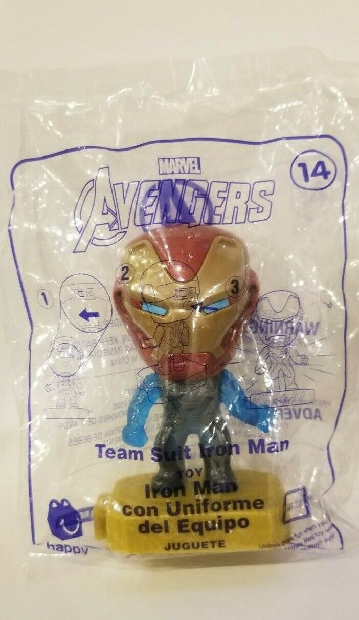 Avengers (2019) McDonalds Happy Meal Toys- Fast Shipping! #14 Team Suit Iron Man