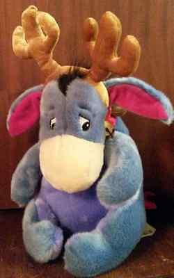 Disney Christmas EEYORE stuffed toy bear donkey winnie pooh reindeer baby gift