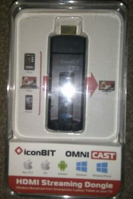 IconBIT Omnicast HDMI Streaming Media Player Play content from mobile on your TV