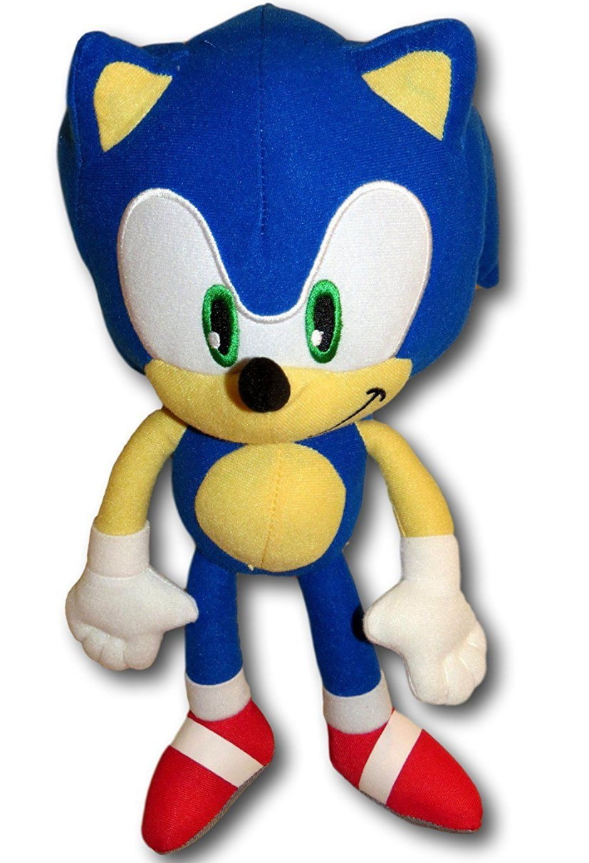 """Sonic The Hedgehog Stuffed Plush Character Toy 12"""" FREE WORL"""