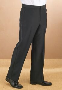 Comfort-waist-Flat-front-Mens-Tuxedo-Pants-Sizes-from-28-to-60