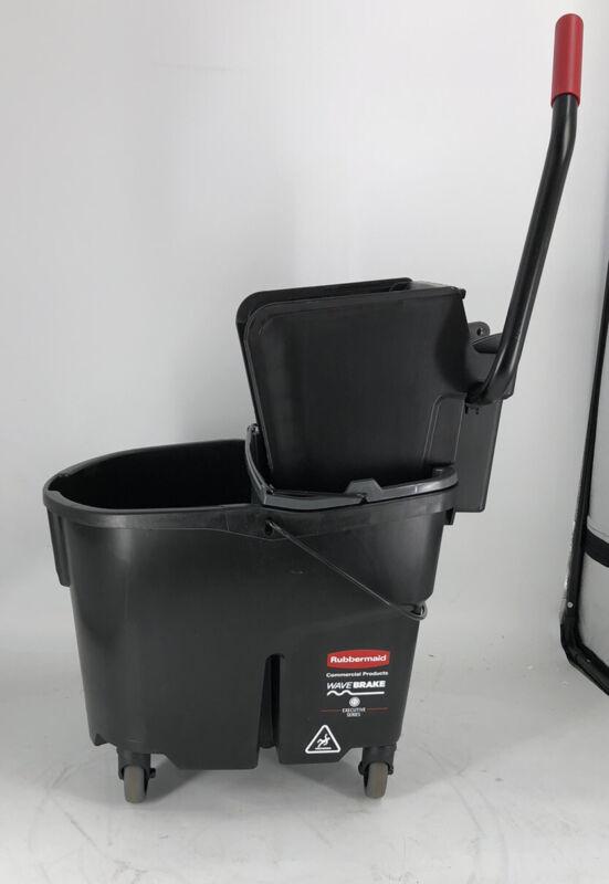 Rubbermaid 1863896 Executive Black WaveBrake 35 Quart Mop Bucket
