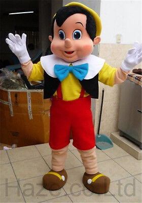 Pinocchio Mascot Costume Fancy Dress Adult Size - Pinocchio Costume Adult