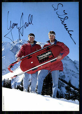 Georg Hackel & Stefan Ilsanker Autogrammkarte Orginal Signiert Rodeln + A 85048