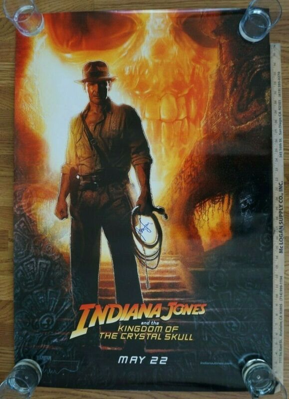 Indiana Jones Skull 2008 Autograph Signed Movie Poster Harrison Ford