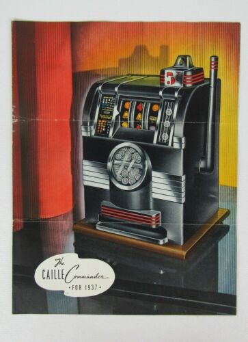 Original Callie Commander for 1937 Coin Operated Slot Machine Advertising Flyer