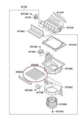 Aircon Filter OEM Genuine Part 97133 3SAA0 For Hyundai YF