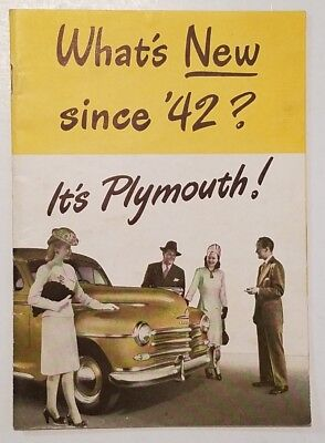 1946  PLYMOUTH Brochure/Booklet WHAT'S NEW SINCE '42
