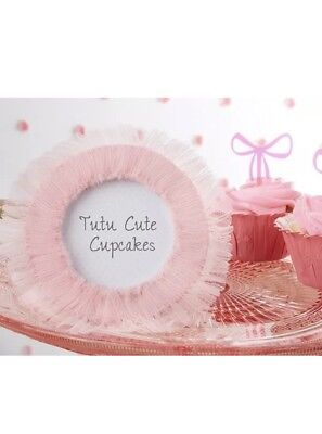 Tutu Cute Baby Shower (Tutu Cute Tulle Photo Picture Frames Ballet Baby Shower Favors  2.5in X)