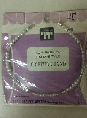 Vintage Coiffure Band! Hy-Fashion Tiara Style  Unique old hard to find -