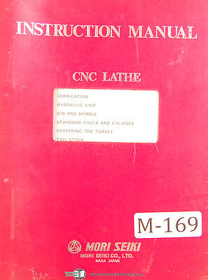 Mori Seiki Sl6a Cnc Lathe Operators Instructions Manual