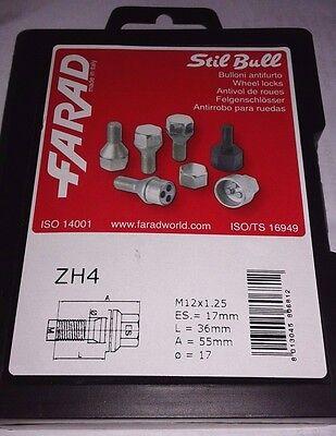 Radschraube Flachbund M12x1,25 x 55mm Citroen Peugeot für Spurverbreiterungen