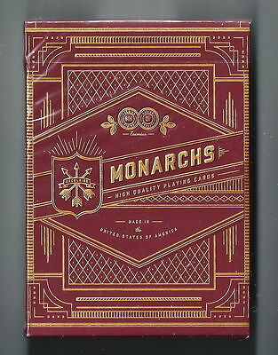 1st edition V1 RARE New Sealed Red Monarchs Deck Playing Cards by Theory 11