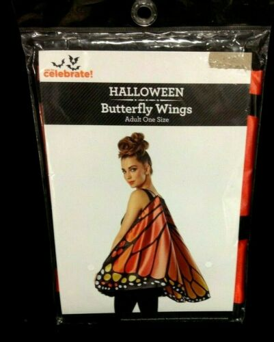 Monarch Butterfly Wings Halloween Costume Accessory Adult One Size Orange play