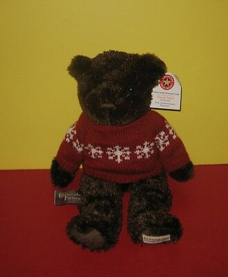 New 14  Cheesecake Factory Holiday Teddy Bear W  Snowlake Sweater    Herrington