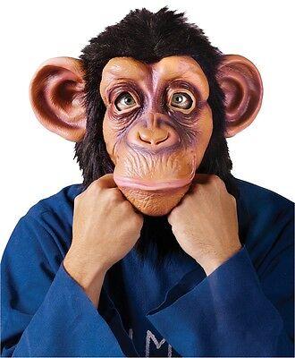 Chimpanzee Mask (Comical Chimp Chimpanzee Monkey Ape Full Overhead Mask Adult Costume)