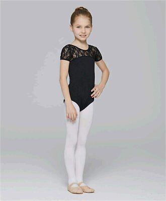 Girls Ballet Dance Neck Lace Leotard For Toddler Gymnastic, Black, Size J2jU - $13.99