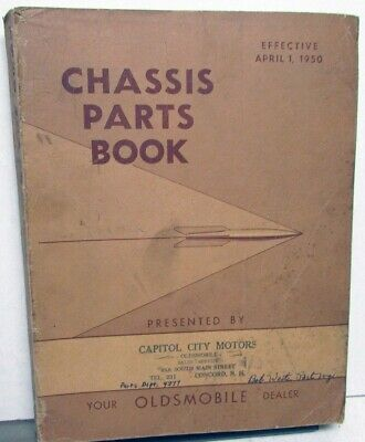 1950 Oldsmobile Dealer Chassis Parts Book Catalog Futuramic 76 88 98