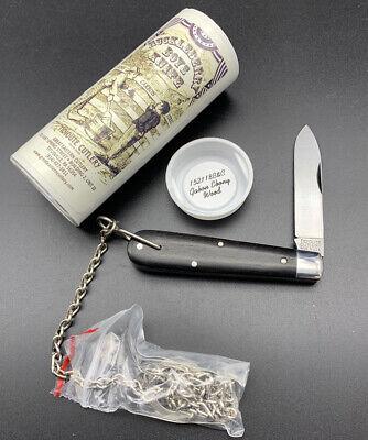 Great Eastern Cutlery GEC Tidioute 152118 B&C Ebony 15 Huckleberry Boys Knife!!
