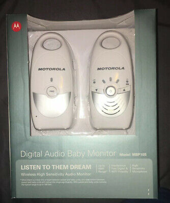 BRAND NEW IN BOX MOTOROLA DIGITAL AUDIO BABY MONITOR MBP10S
