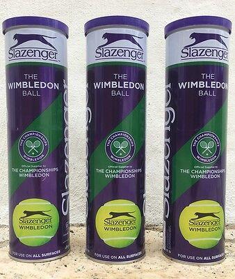 Slazenger Wimbledon Tennis Balls 1 Dozen (3 tubes of 4 balls) NEW