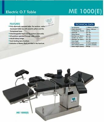 Fully Electric C-arm Compatible Operation Theater Ot Surgical Table Medinain
