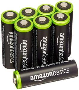 AmazonBasics AA Rechargeable Batteries  Pre-charged 8 Pack F