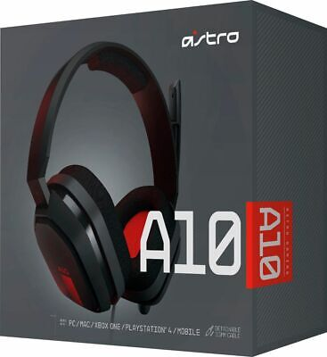 Astro Gaming A10 Wired Stereo Gaming Headset for PC, MAC, Xbox One, PS4, Mobile