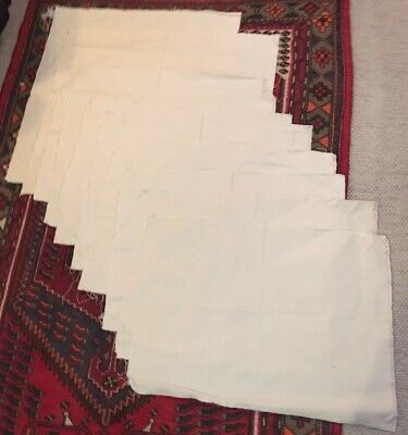 Lot(10) Raw Unstretched Cotton Duck Painting Art Canvas @ 21 x 30 inch range