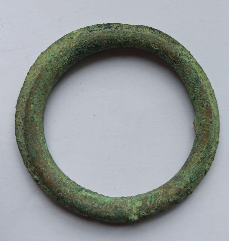 RARE PREHISTORIC BRONZE AGE BRITAIN BRONZE OVAL BRACELET 2500-1000 B.C.