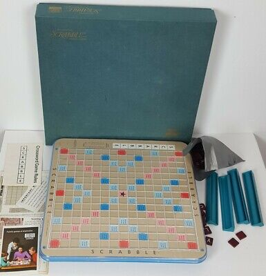 Vintage 1977 Scrabble Deluxe Turntable Edition 100% COMPLETE