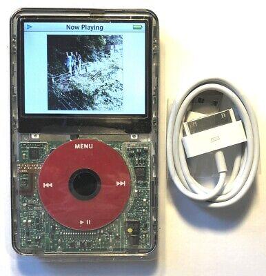 160 Gb Ipod Video - 128GB iPod Classic Video 5th 5.5 Enhanced SD Card U2 Red Black Clear 120GB 160GB