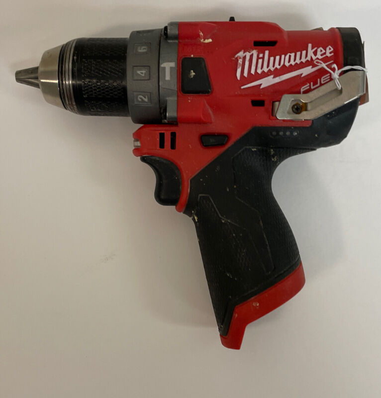 MILWAUKEE 2504-20 M12 FUEL BRUSHLESS CORDLESS 1/2 IN. HAMMER DRILL (TOOL ONLY).