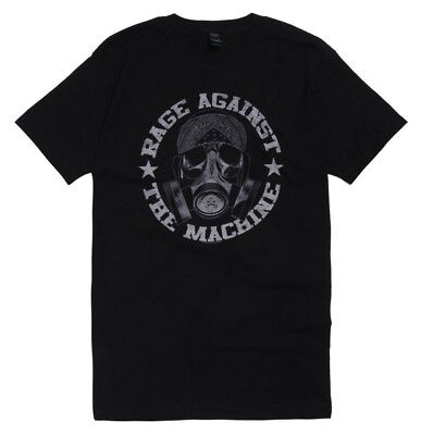 Rage Against The Machine GAS MASK Black T-Shirt NWT Authentic & Official