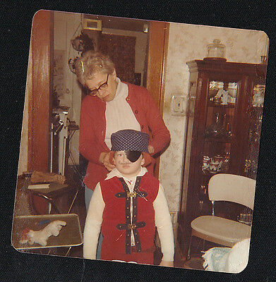 Vintage Photograph Mom With Little Boy Wearing Pirate's Costume for Halloween (Little Boy Pirate Costume)