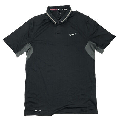 Nike Mens Tiger Woods Collection Ultra 3.0 Golf Polo Size Medium Black 619757010