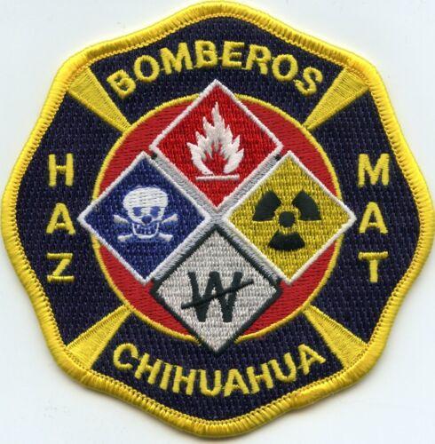 CHIHUAHUA MEXICO HAZ MAT BOMBEROS FIRE PATCH