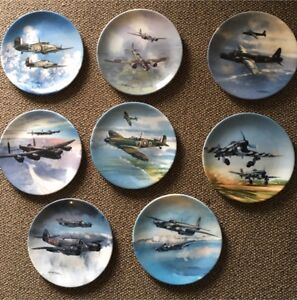 8 x WWII  Aircraft Collectors Plates