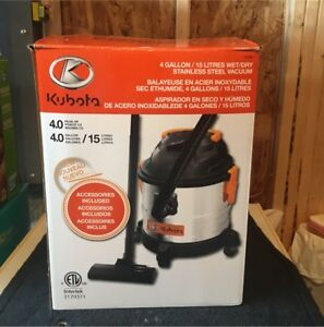 Kubota Wet or Dry Stainless Steel Vacuum Cleaner - Brand New