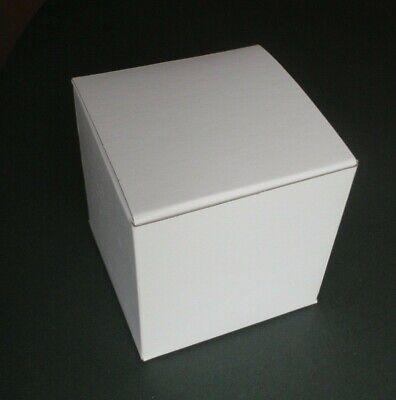 White Cardboard Gift Box Glossy 4 X 4 X 4 Easy Folding Set Of 10