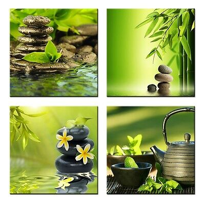 4 Panels Framed Home Decor Canvas Print Painting Picture Modern Wall Art Zen Spa
